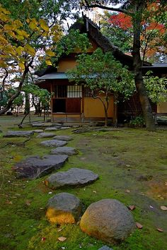 Japanese Tea House in Nagoya castle park Aichi, Japan