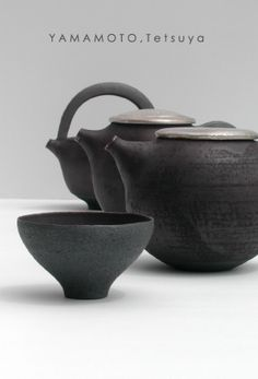 Tetsuya Yamamoto - Teapots and Cup CLICK Visit above for more options Click above VISIT link to find out Ceramic Tableware, Ceramic Teapots, Ceramic Clay, Ceramic Bowls, Pottery Teapots, Ceramic Pottery, Pottery Art, Slab Pottery, Pottery Studio