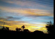 Por do sol em Brasília-DF