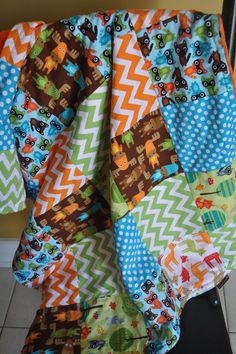 Baby Infant Toddler Boy, Patchwork 30x35 Crib Blanket, Pick Your Own Fabrics on Etsy, $59.99