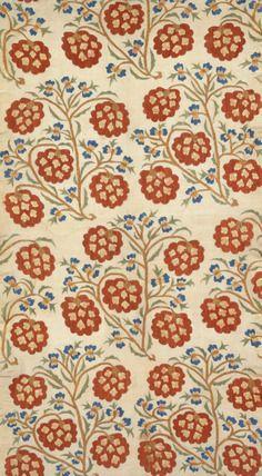 Linen embroidered with silk thread. Ottoman Period, Turkey