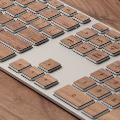 Lazerwood Keys for Apple Extended Keyboard