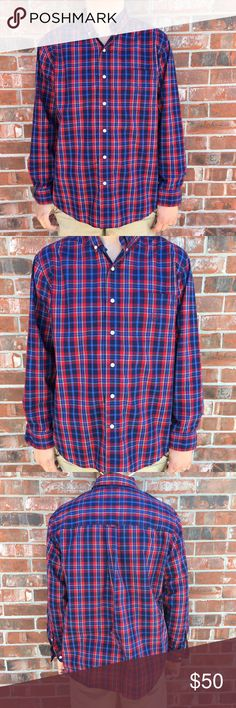 Red Plaid Cinch Dress Shirt NWOT! This shirt is brand new and has never been worn! A great buy! Chaps Shirts Dress Shirts