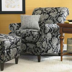 Accent chair by Bassett - Love the  fabric!!