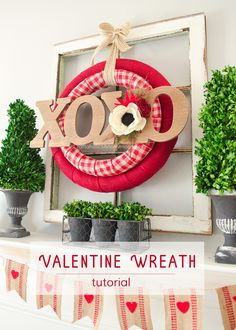 Craftaholics Anonymous® | Decor for your Valentine's Day. A double wreath to craft over. Art is within our finger tips!