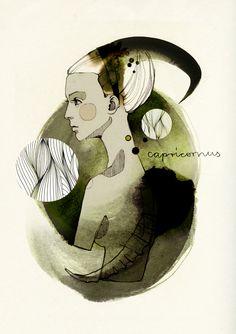 Zodiac Signs by Ekaterina Koroleva, via Behance