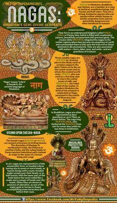 The semi-divine half-serpent, half-man beings of Hindu mythology, the NAGA.