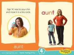 Learn how to sign aunt in ASL (American Sign Language). Children often have special relationships with aunts & uncles. Sign Language For Kids, Asl Sign Language, American Sign Language, Learn Singing, Singing Tips, Libra, Learn To Sign, Baby Singing
