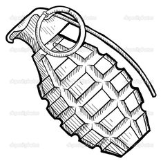 hand grenade illustration - Google Search