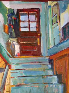 CHRIS EASLEY  Painting on the Inside, Stairs