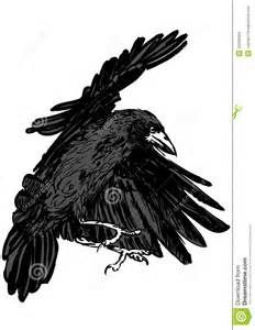 imagery in the raven