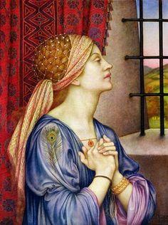 evelyn de morgan   Pre Raphaelite Art: Evelyn De Morgan - The Prisoner, 1907-08
