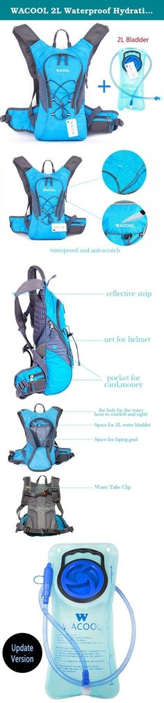 "WACOOL 2L Waterproof Hydration Bladder Pack, Cycling Backpack, Lightweight Daypack (Blue and 2L Bladder). Please pay attention. Only choose color option = ""Blue and 2L Bladder"" or ""Orange and 2L Bladder"", the backpack will include a water bladder! For $19.99, it is backpack only! Product Feature: - Lightweight design,much more comfortable. - With unique helmet net for outdoor cycling. - High utilization of the main storage space,can be easily put some daily necessities, clothes and…"