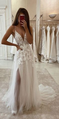 Country Wedding Dresses Tea Length Eleganza Sposa wedding dresses and gowns Modest Wedding Dresses, Designer Wedding Dresses, Bridal Dresses, Prom Dresses, Long Sleeve Wedding Dress Boho, Lace Mermaid Wedding Dress, Ball Dresses, Ball Gowns, Pretty Dresses