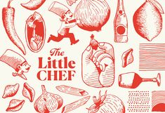 The Little Chef – Carpenter Collective Graphic Design Posters, Graphic Design Typography, Logo Design, Menu Design, Brochure Design, Design Design, Packaging Design Inspiration, Graphic Design Inspiration, Design Packaging