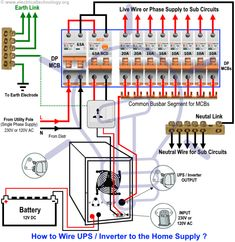 Home Ups Inverter Wiring Diagram John Deere Gator Electrical For X Automatic Connection To The Technology Pinterest Wire Electronic Engineering And