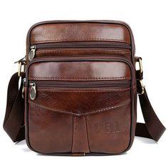 a37779e9817 QiBoLu Cow Genuine Leather Messenger Bags Men Travel Business Crossbody Shoulder  Bag for Man Sacoche Homme Bolsa Masculina MBA19