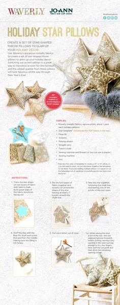 DIY Holiday Star Pillows
