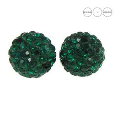 Discoball Bead 12mm Emerald  Dimensions: 12mm Stones which were used in a ball are from Preciosa Company  1 package = 1 piece