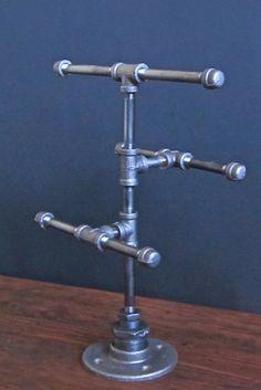 industrial pipe 3 tier jewelry stand by industrialhomebazaar