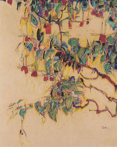 Egon Schiele -Sonnenbaum, 1910.