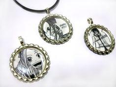 Fairy Tail Manga Necklace Set Original Geekery by RedLotusDesignz, $24.00