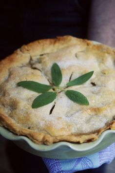 Sage and Brown Butter Apple Pie - A Thought For Food