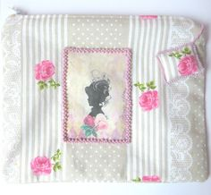 Makeup Bag Cosmetic bag Roses Makeup Bag by CrossStitchElizabeth