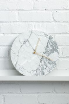 Marble is huge for spring 2016. But before you (and your wallet) freak out, this trend is all about small touches of luxury—think: candleholders, coasters, planters, and ultra-cool clocks.