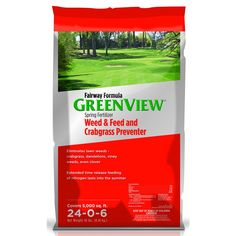 GreenView Fairway Formula Spring Fertilizer Weed & Feed plus Crabgrass Preventer performs three tasks: provides a crabgrass preventer, lawn fertilizer, and broadleaf weed killer all rolled into one application
