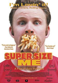 This movie will definitely spark your health craze. Super Size Me: While examining the influence of the fast food industry, Morgan Spurlock personally explores the consequences on his health of a diet of solely McDonald's food for one month. Mcdonalds, Jeff Bridges, Michael Moore, Slow Food, Best Food Documentaries, Fast Healthy Meals, Healthy Recipes, Fast Foods, Eat Healthy