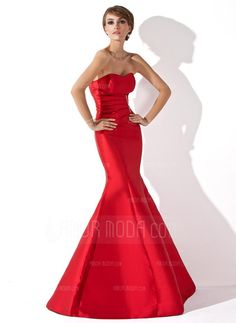 Evening Dresses - $136.99 - Trumpet/Mermaid Sweetheart Floor-Length Taffeta Evening Dress With Ruffle Beading (017013777) http://amormoda.com/Trumpet-Mermaid-Sweetheart-Floor-length-Taffeta-Evening-Dress-With-Ruffle-Beading-017013777-g13777