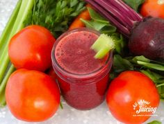 This is the BEST homemade V8 juice recipe out there.  www.all-about-juicing.com