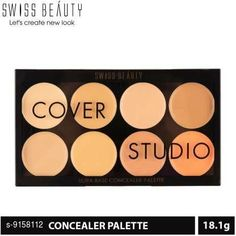 Concealer Swiss Beauty Concealer Pallete Product Name: Swiss Beauty Concealer Pallete Brand Name: Swiss Beauty  Finish: Natural Country of Origin: India Sizes Available: Free Size   Catalog Rating: ★4.2 (608)  Catalog Name: Swiss Beauty Premium Full Coverage Concealer CatalogID_1589834 C173-SC1954 Code: 403-9158112-944
