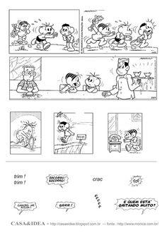 CASA&IDEA: Historia em Quadrinhos, Colagem dos diálogos - Série: Apoio Educacional em Casa