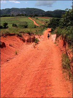 Cuba - Viñales, red earth in the valley. #Viñales is a #UNESCO World Heritage Site where #agriculture drives the economy.