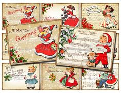 Instant Download Christmas Printable Gift Tags by TheVintageRemix, $3.75