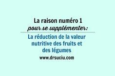 Photo La raison numéro 1 pour se supplémenter - drsuciu La Raison, Valeur Nutritive, Blog, Blogging