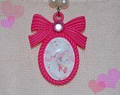 Pink Chibi-Moon  Chibi-Usa Mini-Moon Cameo Necklace Pendant
