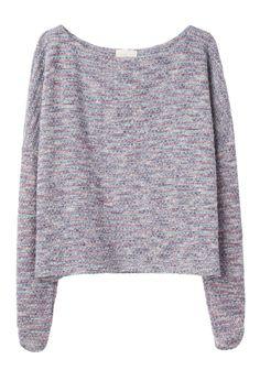 Girl by Band of Outsiders / Knit Tweed Sweatshirt