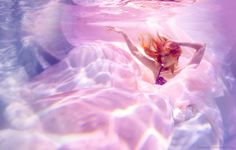 Underwater Lingerie with Samantha Drew  photographed by Michael David Adams