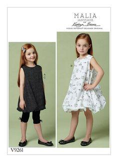 Vogue Sewing Pattern V9261 Children s Girls  Tunic and Kids Patterns f7358e427