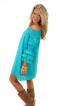 Joys R Us Dress, Turq :: NEW ARRIVALS :: The Blue Door Boutique