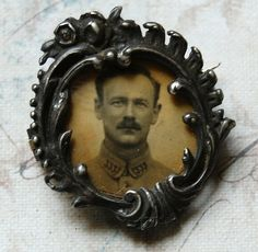 Vintage French Photo Brooch