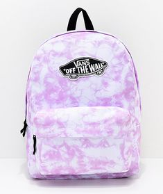 """Known for producing high-grade skate gear, Vans presents the Realm Pink Check backpack. This trendy design features a pink and white checked canvas exterior with a black and white Vans """"Off The Wall"""" logo patch on the front. Vans School Bags, Cute School Bags, Vans Bags, Cute Backpacks For School, Cute Mini Backpacks, Cool Backpacks, Teen Backpacks, Leather Backpacks, Backpacks From Pink"""