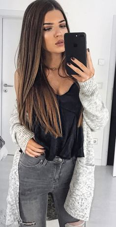 mix your fav cardi with jeans and a cool top to keep it simple