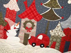 Nature's Christmas Winter Wonderland project at Holly Hill Quilt Shoppe - 2013