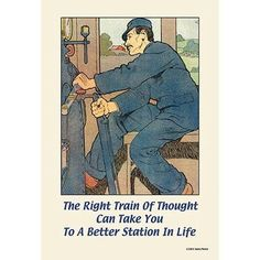 Buyenlarge 'The Right Train of Thought Can take you to a better station' by Sara Pierce Graphic Art