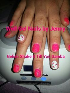 Gelish Shak it till you samba with Cath Kidston inspired accent nail.