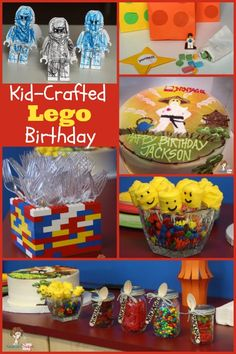 kid-crafted-lego-birthday-party.  Love the utensil holder.  Super easy to make!
